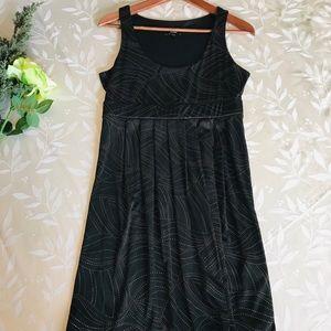 Express Black and Gold Dot Dress